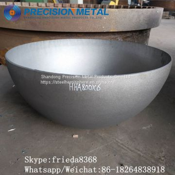 Carbon steel chemical industry metal half sphere hemispherical head