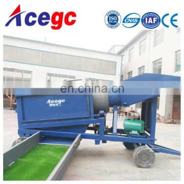 Mobile Alluvial Gold trommel Wash Plant For Sale