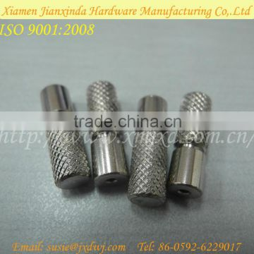 Stainless steel hatching knurling maching part