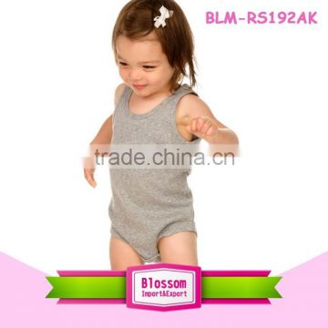 7b3a4a2458b8 Boutique Baby Girls blank gray carters Clothing Newborn Baby Cotton  bodysuit Sleeveless Bubble Ruffled Rompers of B-Baby romper