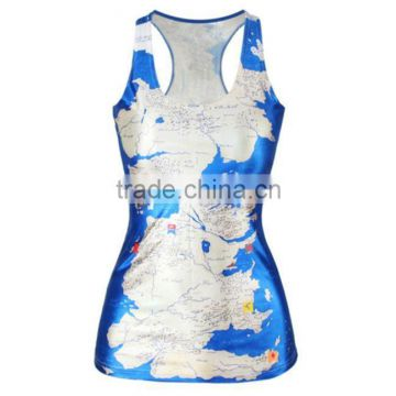 wholesale custom cheapest elastane dye sublimation tank top