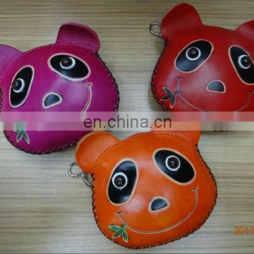 2013 Panda High quality Genuine leather leather coin purse
