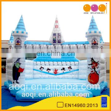 AOQI with free EN14960 certificate 8x8m inflatable castle bouncer jump trampoline for kid