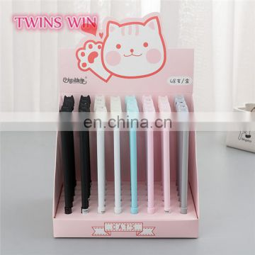 Lithuania school cute stationery supplies promotion funny animal shaped color assorted erasable gel pen