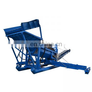Placer mining trommel with diesel engine trommel