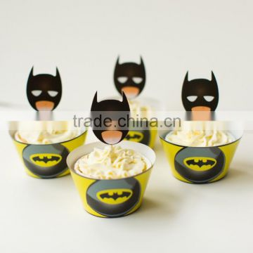 Kids Batman Cakecup Cool Anime Party Supplies