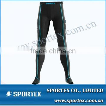 Comfortable body cut Sportex compression tights, skins compression tights, men's pant OEM#OM1308