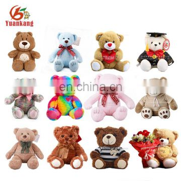 Wholesale Custom 10cm 50 cm 60cm Colorful Pink Ted Bear Funny 3 inch 7 inch 12 inch 5 ft 6 foot Blue Color Magic Teddy Bear Toy