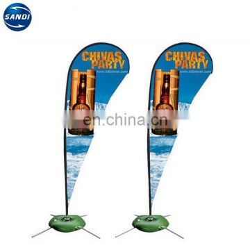 Promotional custom printing polyester beach teardrop flag