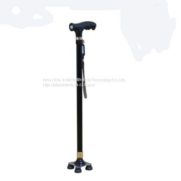 High quality Travel Adjustable Folding Single Foldable medical walking stick for old people