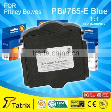 For Pitney Bowes,Post Postage Meter Ink Cartridges 765-E Blue With Top 3 Manufacture in China