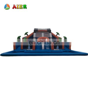 New commercial giant inflatable water slide / large water park equipment water games park for sale