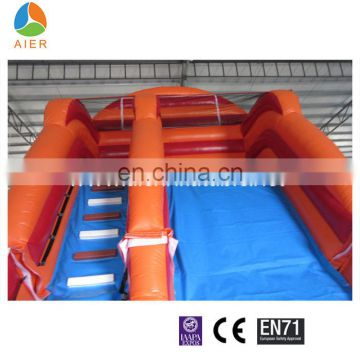 Newest design water slides for sale, giant inflatable water slide with pool for sale