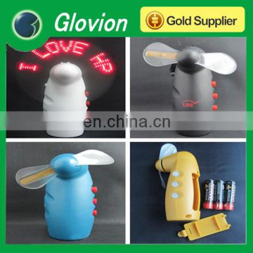 Handheld led message fan glovion programmable flashing fan led custom message fan