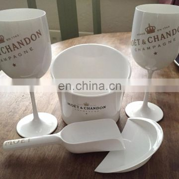 White Color Acrylic Made ICE IMPERIAL MOET CHANDON ICE CUBE HOLDER & SCOOP