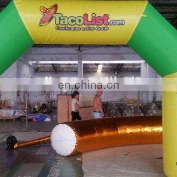 Swim event water inflatable arch with led light