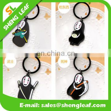 popular cartoon figure shaped metal keychain for childern