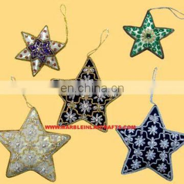 Gorgeous Design Hand Embroidery Christmas Decoration Ornament