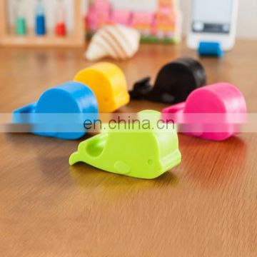 Lovely whale shaped silicone cell phone stand
