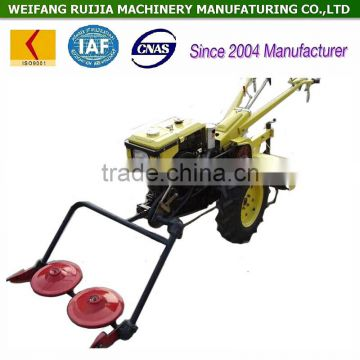 Best selling new mower machine rotation ! China diesel air cooled or water cooled walking tractor with lawn mower for sale !