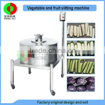 New developed fruit and vegetable slitting cutting machine, full automatic vertical cutter