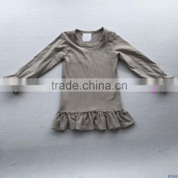 97dec205eb36 ... Autumn winter trendy clothing solid color tops long sleeve toddler baby girls  ruffle tshirts blank t ...