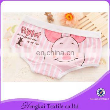 Various colourful girls panties hot selling cheap price cartoon printing panties for young grils
