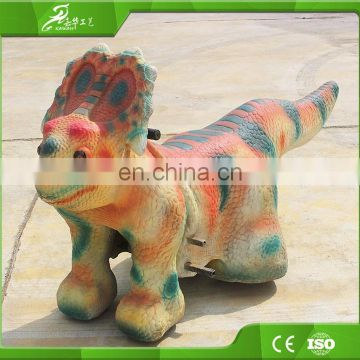 KAWAH Amusement Park Dinosaur Rides Electric Coin Operated Animal Scooter For Kids