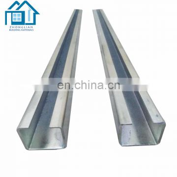 ASTM a36 q235 standard length metal building galvanized c channel steel price