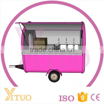 New mobile ice cream vending carts / hamburgers carts food cart for sale