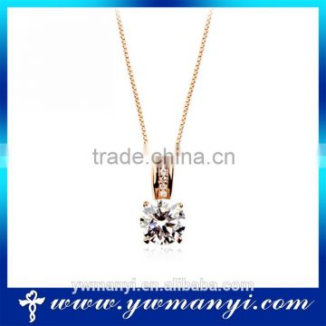 Most popular products gold plated jewellery zircon pendant necklace cheap sale P0011