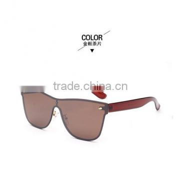 Dazzling color piece wholesale rivets men and women sunglasses