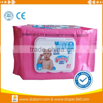 OEM high quality baby wipes/baby face wipes