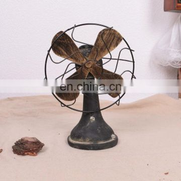 High quality resin handmade Retro Electric fan figurine home decoration