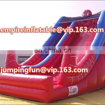 Small Size Cheap Inflatable Spiderman Water Slides ID-SLM036
