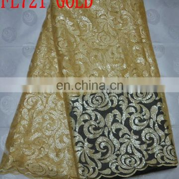handcut embroidery lace with beads sequins(FL721)