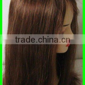#30 Straight 16 inches 100% Indian remy human hair lace wigs accept customer order