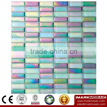IMARK Marble Mosaic Tiles Mix Crystal Glass Mosaic Tiles with Painting Glass Mosaic Tiles for Wall Decoration Code IXGM8-061