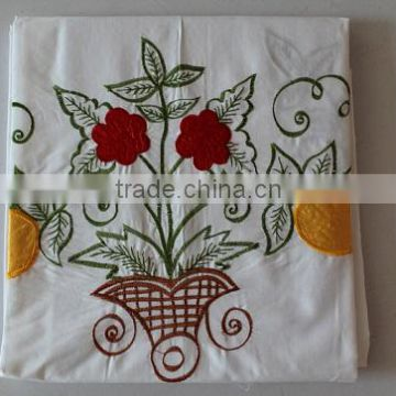 Embroidery beautiful 3pcs bedsheet