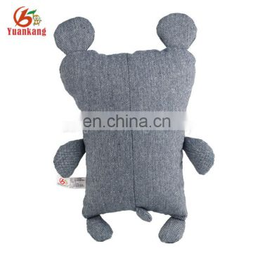 wholesale pp cotton rest lovely denim plush throw pillow stuffed bear toys