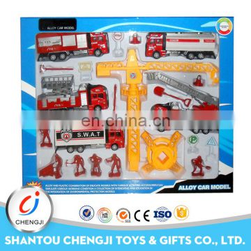 Factory out-let fire set cool alloy toy diecast model car