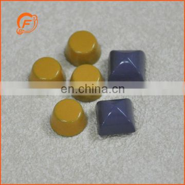 fashion yellow metal cylinder studs for bags