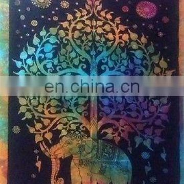 Large Indian elephant Tapestry tree of life Wall Hanging Throw Bedspread Dorm Tapestry Decorative product