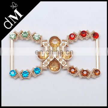 Colour acrylic beads decorative metal buckle for bags BK0027