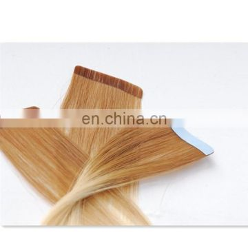 100% human hair skin weft hair extension remy hair no tangle tape hair extension