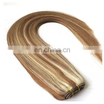 High quality two tone color black to blonde ombre human hair weaving
