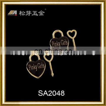 Song A Metal New style Gold plated anti brass metal label metal logo for handbag