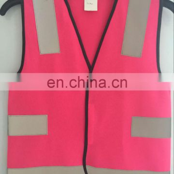 Reflective safety Pink Child vest