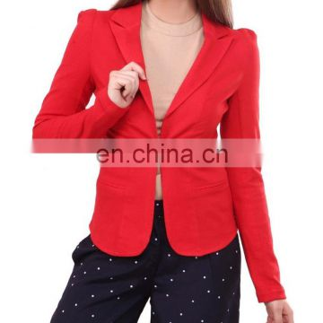 Beautiful Red Classic Fit Blazer for women