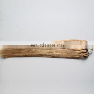 Wholesale price micro ring loop hair extensions brown and blonde color pre-bonded hair cheap brazilian hair